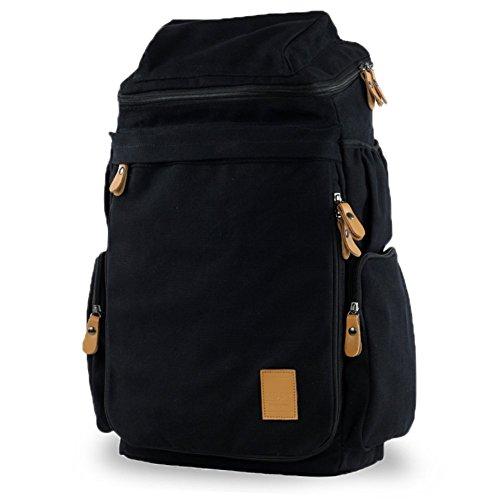 Sincere® Fashion Backpack / Zipper Sacs à dos / Rue mode / Multifonction / Canvas sac à bandoulière / sac en vrac / occasionnels extérieur sac à dos d'alpinisme / des étudiants sacs-noir