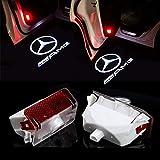 ZTMYZFSL 2 Stücke Auto Logo Projektion Projektor Tür geister Shadow Light Willkommen Lampe Licht (For K-AMG)