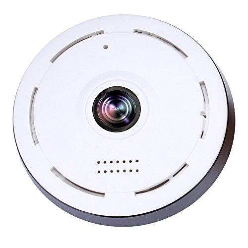 WI-FI Cámara detectora de humo Mini cámara 360 grados Gran angular 3D HD VR Control remoto Detección de movimiento Visión nocturna Aplicación SW05