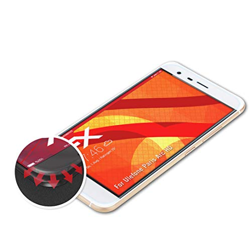 atFolix Schutzfolie kompatibel mit Ulefone Paris Arc HD Folie, entspiegelnde & Flexible FX Bildschirmschutzfolie (3X)