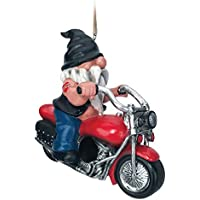 Spoontiques Gnome on Motorcycle Birdhouse