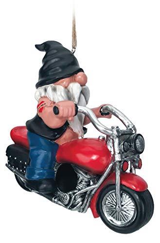Spoontiques 10127 Gartenzwerg auf Motorrad, Mehrfarbig