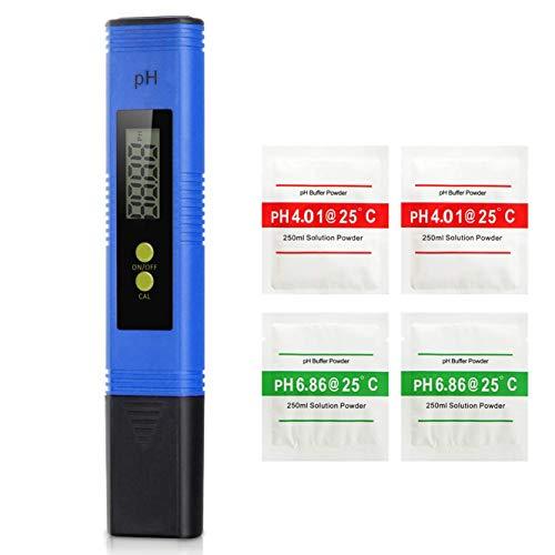 Koopower PH Messgerät Wasser mit LCD Anzeige PH Wert Messgerät Digitaler PH-Meter für Schwimmbäder, Thermen, Aquarien, Hydroponik und anderembäder (Englische Bedienungsanleitung)