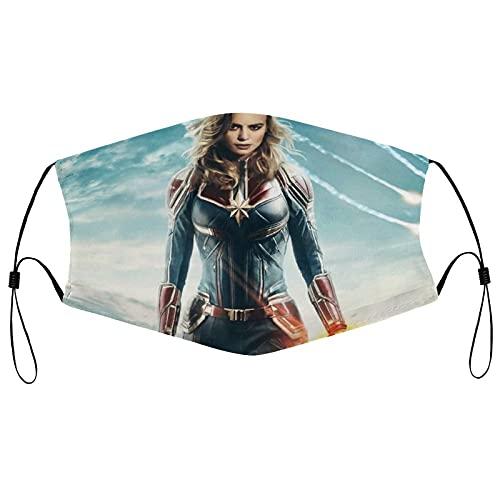 Best-design Capitán Marvel Superhero Cómodas bandas elásticas ajustables para hombres y mujeres decoración de la cara, neutral y reutilizable elegante funda lavable