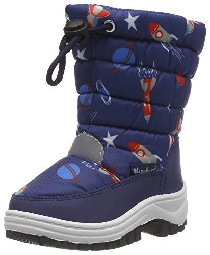 Playshoes Boys Snow Boots Space Unisex-Kinder Schneestiefel, Blau (marine 11), 28/29 EU
