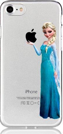 Handyhülle Olaf ELSA FROOZEN Disney kompatibel für Huawei Honor 7C / Y7 Prime 18 Princess hält Apfel Schutz Handy Hülle Case Bumper transparent M13