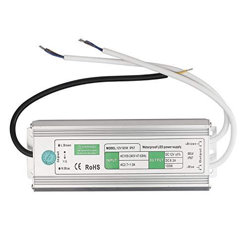 BAODE 20-200W Transformador DC 12V LED. Adaptador de Corriente y Driver para Diseño de Rayas,(100W/8.5A 8007 )