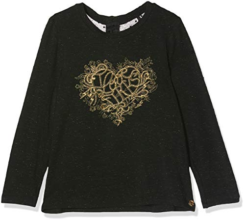 IKKS Junior tee Shirt Ml Cœur Lurex Dore Camiseta, Negro (Noir 02),...
