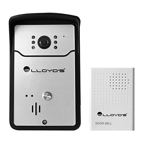 Lloyd'S LC-1120 Videointerfón Wi-Fi con Timbre, color Negro/Plata