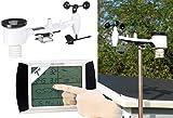 infactory Wetterstation Wind: Wetterstation-Set mit Touchscreen-Display & Außenstation, PC-Anschluss (Wetterstation mit Regenmesser)