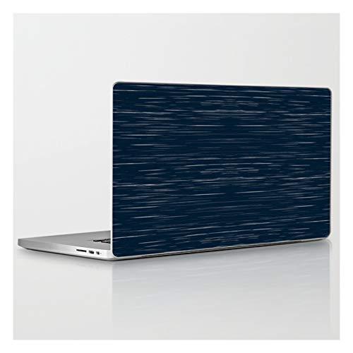 Laptop & Tablet Skin - 15' MacBook Pro Retina - Meteor Stripes - Dark Denim by Silverpegasus