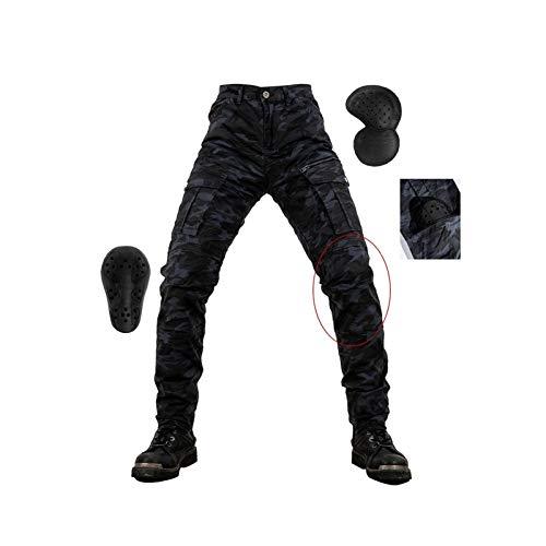 YXYECEIPENO Pantalones De Moto De Camuflaje Pantalones De Moto para Hombre Diseño De Múltiples Bolsillos, 4 Equipos De Protección Extraíbles Adecuado para Montar En Cuatro Estaciones.