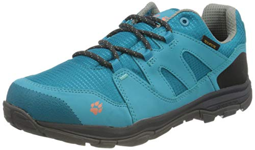 Jack Wolfskin Unisex Kinder MTN Attack 3 Texapore Low K Outdoorschuhe, Turquoise/Coral,35 EU