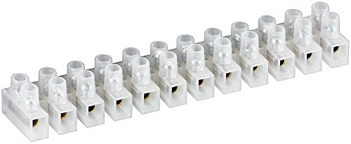 Preisvergleich Produktbild Lüsterklemme ,  transparent weiß 12er Reihe mit doppelter Schraubklemme LÜK 6 6mm² max.5A