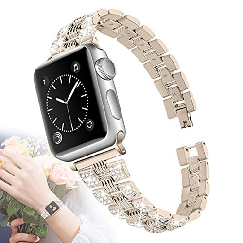 Compatible con Apple Watch Band 44 Mm 42 Mm 40 Mm 38 Mm Correa De Repuesto De Metal Inoxidable Brillante Brillante para Apple Watch SE Iwatch Band Series 6 5 4 3 2 1,38mm/40mm