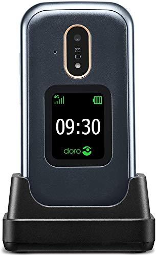 Doro 7080 Unlocked Dual-SIM 4G Clamshell Mobile Phone for Seniors with GPS,...