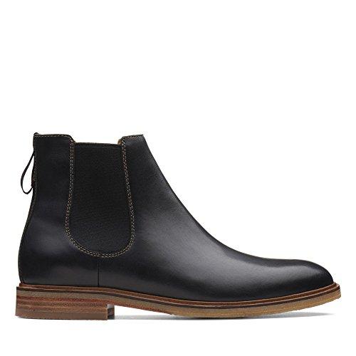 Clarks Herren Clarkdale Gobi Chelsea Boots, Schwarz (Black Leather), 47 EU
