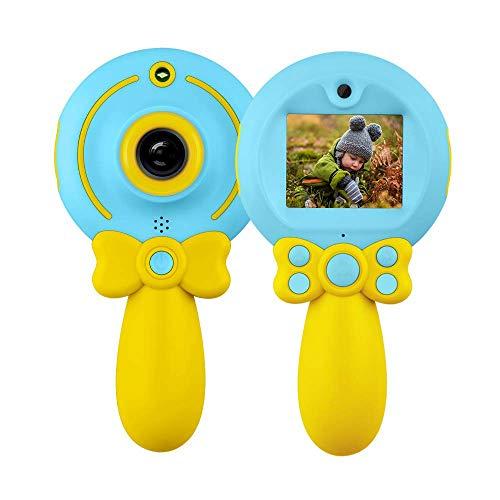 QYWSJ Cámara Creativa para Niños, Cámara Digital para Niños Selfie Camera 1080p Cámara Dual, Pantalla Color Alta Definición 2.0'' y Tarjeta 16GB TF para Regalo Cumpleaños Niñas y Niños