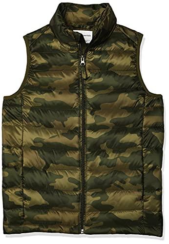 Amazon Essentials Jungen Boys' Lightweight Water-Resistant Packable Puffer Vest, Camo Print, L (Herstellergröße: 10)