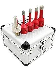 SHDIATOOL M14 Vacuum Brazed Diamond Drill Core bits met doos Set 1 rood