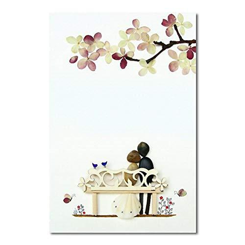 HERWS Leinwandbild Paar Liebe Schaukel Poster Leinwanddruck Wand Nordic Minimalist Style Art Modular Wohnzimmer Schlafzimmer Haus Ohne Rahmen