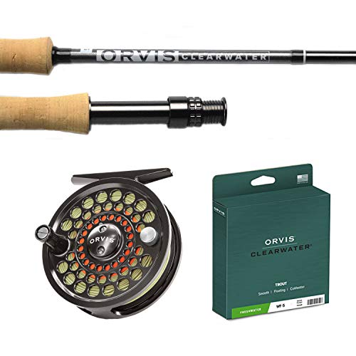 ORVIS CLEARWATER ROD & BATTENKILL REEL COMBO-OUTFIT 7ft - 6 in. 3 wt. 4 pc. (763-4) with WF3F Clearwater Line & Backing