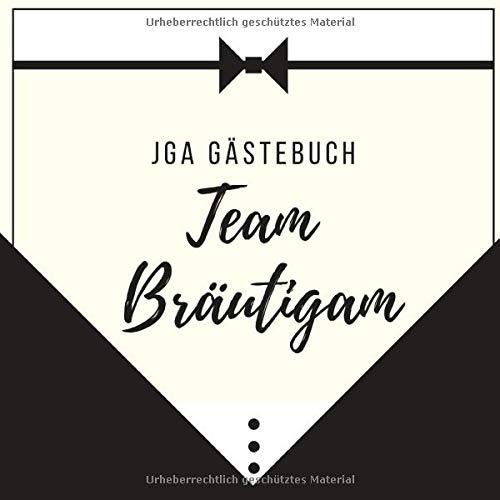 JGA GÄSTEBUCH TEAM BRÄUTIGAM: Gästebuch QUADRAT halbliniert für den Junggesellenabschied   JGA  ...