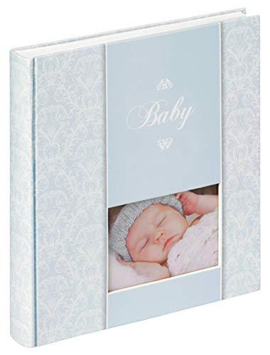 Quantio Walther Babyalbum Daydreamer - 30,5 x 28 cm - für bis zu 224 Bilder 10x15-50 Seiten - Mädchen oder Junge, Farbe:Blau