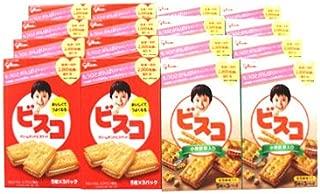 おかしのマーチ グリコ ビスコ クリームサンドビスケット・小麦胚芽入り (5枚×3パック) (2種類・計16個) セット G