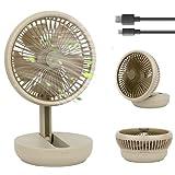 MadxfroG Ventilatore da Tavolo USB Silenzioso (25x17cm) Ricaricabile 3600mAh Ventilatore da...