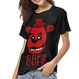 DCEGasc Camiseta de béisbol Five Nights at Freddy Game Over de manga corta con cuello redondo
