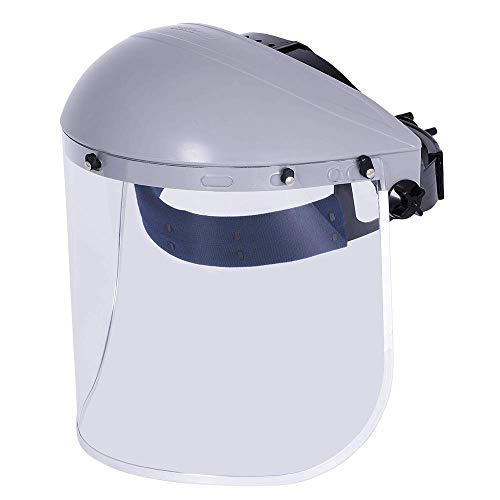 Sellstrom Advantage Series Face Shield, Safety Mask, Clear Aluminum Polycarbonate, Ratchet Headgear, Lightweight Comfort, ANSI Z87, Unisex, S30110