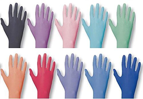 Einmalhandschuhe PEARL ColorLine von Unigloves, Nitril, verschiedene Farben Opal M medium