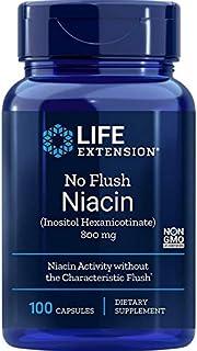 Life Extension No Flush Niacin (Inositol Hexanicotinate) 800 Mg , 100 Capsules