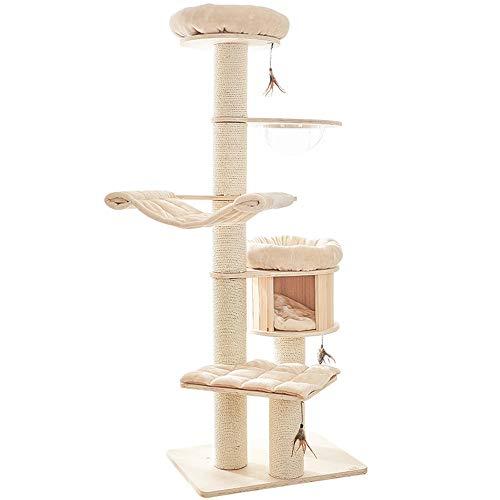 XBSD krabpaal met meerdere niveaus, krabbomen met sisal coating, pluche stangen, mand en eigendomwoningen, kattentorenmeubelen voor katten.