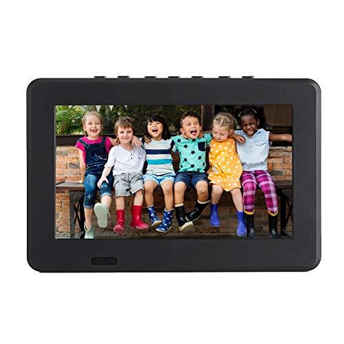 Vbestlife TV Portátil Analógica Digital -T-T2, TV Portátil con Resolución 800x480, Soporte USB, Tarjeta TF, Video RMVB/AVI/MPEG/MKV/MOV 1080P, 7 Pulgadas.