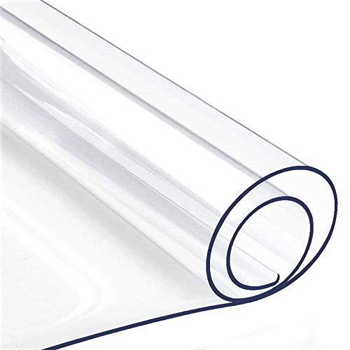 Claro Plástico Protector de Cubierta de Mesa, Rectangular Impermeable PVC Vinilo Protector de Mesa, Limpiable Cojín de Escritorio Manteles por Mesa de Centro Escritorio Cocina, Multi-Tamaño Opcional