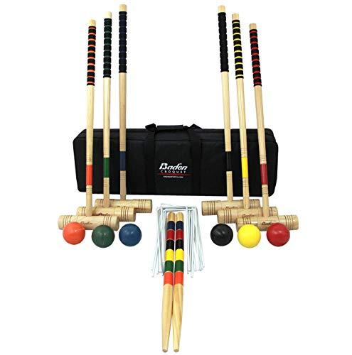 Baden 6-Player Champions Croquet Set with Soft Grip Handles