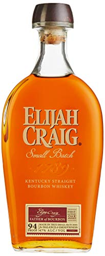 Elijah Craig Small Batch Kentucky Straight Bourbon Whiskey mit Geschenkverpackung (1 x 0,7 l)