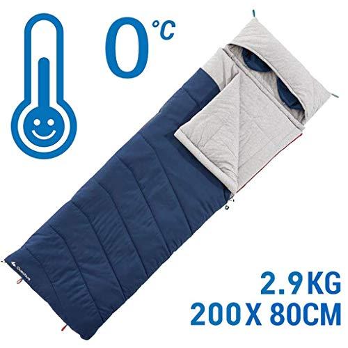 CATRP Coton Sac De Couchage De Plein Air Sauvage Intérieur Camp Voyage Chaud Adulte Portable (Color : Blue)
