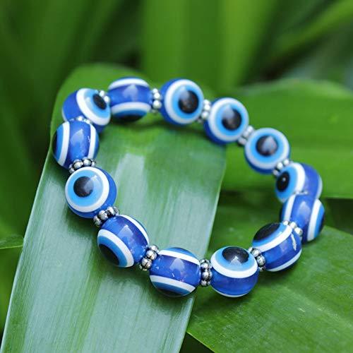 Braccialetto elegante con topazio blu di buona qualità di lunga durata, bracciale sottile con linea blu, misterioso per donne e bambini