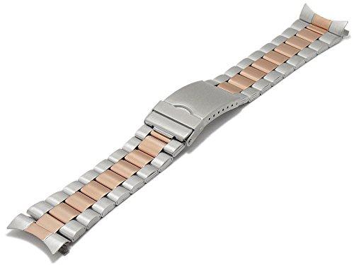 Meyhofer Uhrenarmband Livonia 22-24-26mm Bicolor roségoldfarben Edelstahl Wechselanstoß MyCskmb7020