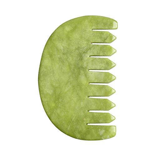 Kirmax 1 Pieza Peine de Tablero Guasha Jade Natural Cuidado Corporal Raspado SPA Masaje Peine de RelajacióN de Piedracuidado de la Salud