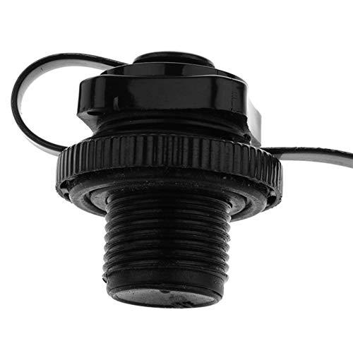Aufblasbare Ventilabdeckung für Boot, Kajak, Pool, Floß, Kanu, zartes Rudern, Spirale (Farbe: schwarz)