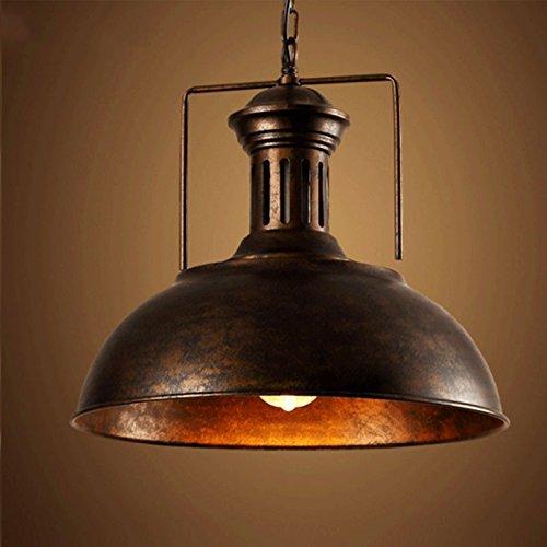 BAYCHEER Lampadario a sospensione in stile industriale con paralume rustico a cupola, realizzato in rame (rame), dimensioni 40 cm, Metallo, rame, E27 40.0 wattsW 220.00 voltsV