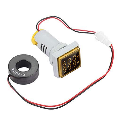 LED Digitalanzeige AC Voltmeter Spannungsanzeige 22mm 0-100A 60-500V Meter Anzeigeleuchte(green)