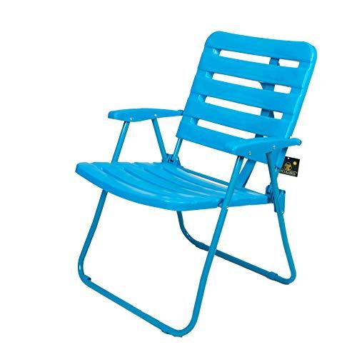 CREVICOSTA QUALITY MARK MARCAS DE CALIDAD Silla 1001 Azul Plástico Reciclado Desmontable. 80cm.