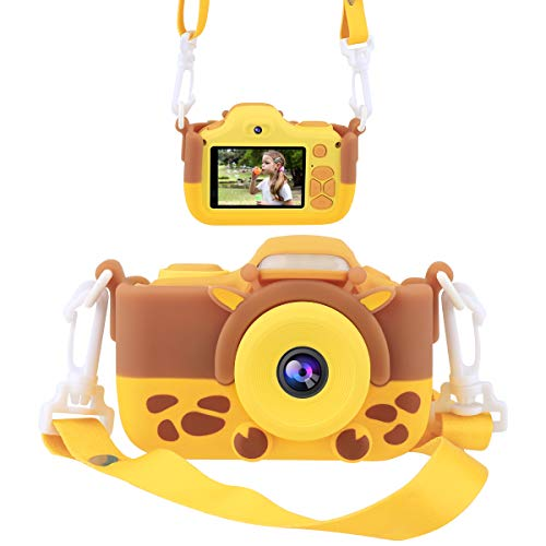 JOYTRIP Kids Camera for Boys Gifts 16.0MP HD 2.0 Inches Screen Kids Video Camera Anti-Drop Children Selfie Toy Camera Mini Child Camcorder for Age 3-14 with Soft Silicone Material (Orange)
