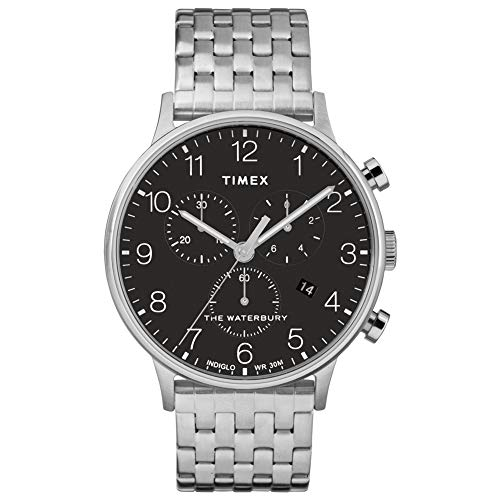 Timex Waterbury Classic Chrono Stainless Steel Silver/Black One Size
