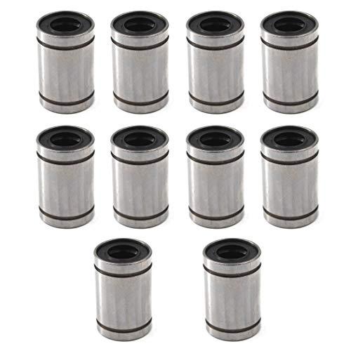 LM10UU - Cojinete de bolas lineal de 10 x 19 x 29 mm para impresora 3D, 10 unidades